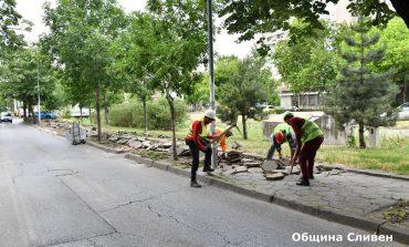 Започна изграждането на 800 метра велоалея по Бургаско шосе