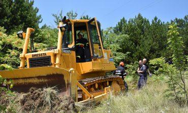 Учение за гасене на горски пожари край Сливен