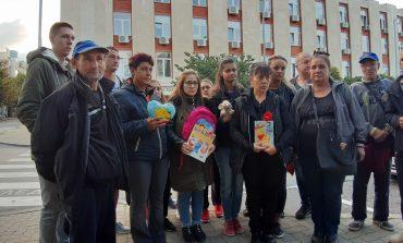 Протест пред съда в Сливен
