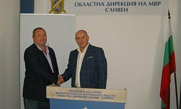Старши комисар Величков представи новия заместник-директор на МВР в Сливен