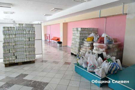 Още фирми дариха храни на общината