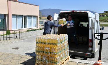 Ново голямо дарение от храни в Сливен