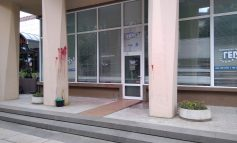 Нацапаха с червена боя офиса на ГЕРБ