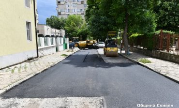 Община Сливен започна асфалтиране на улиците