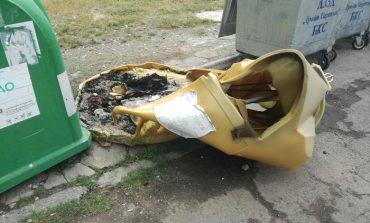 Вандали запалиха 3 контейнера за разделно събиране на отпадъци в Сливен