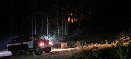 Започна локализирането на пожара в Твърдица